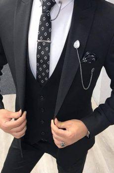 crno musko odelo