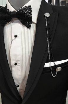 musko svečano crno odelo